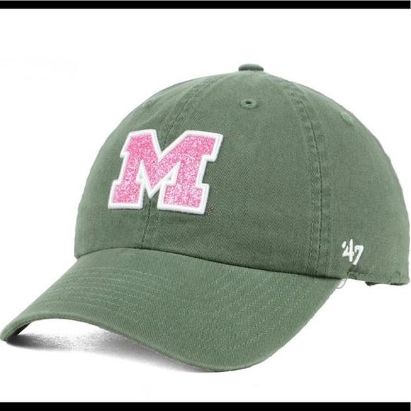 09255746880d01  47 Brand Michigan Wolverines Glitter Clean Up Cap